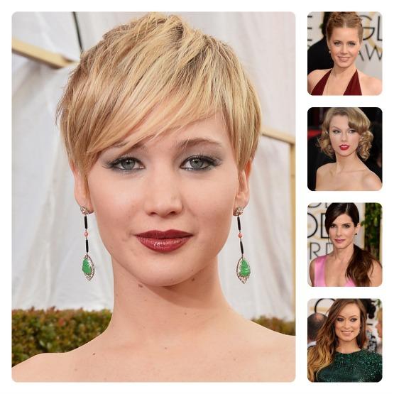 beleza-beauty-editor-acontece-golden-globe-globo-de-ouro-2014-cabelo-maquiagem-jennifer-lawrence-amy-adams-taylor-swift-sandra-bullock-olivia-wilde-batom-delineador-coque-mechas-cabelo-curto-abre-ok