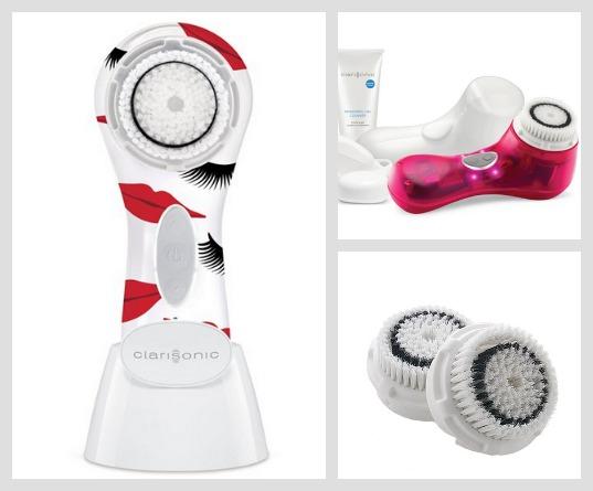 Mais gadgets Clarisonic: o Mia 3 em versão fofa e exclusiva para a loja de departamentos americana Nordstrom; o Mia 2 na cor Screen Siren; escovinhas extra para o aparelho, vendidas separadamente.