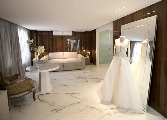 Panorama da suíte principal para noivas...