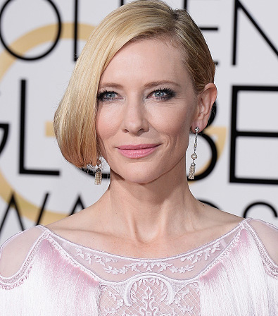 BEVERLY HILLS, CA - JANUARY 10: 73rd ANNUAL GOLDEN GLOBE AWARDS -- Pictured: Actress Cate Blanchett arrives to the 73rd Annual Golden Globe Awards held at the Beverly Hilton Hotel on January 10, 2016. (Photo by Kevork Djansezian/NBC/NBCU Photo Bank via Getty Images)