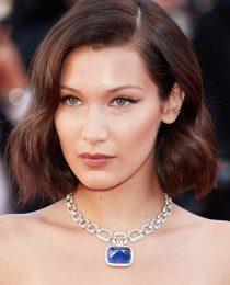 Bella Hadid em Cannes: makes mais penteados para corte de cabelo lob