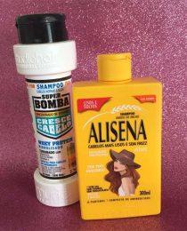 Shampoo Alisena e Bomba da Muriel