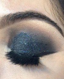 Make com Glitter como fazer Pálpebra Luz e Olho Preto