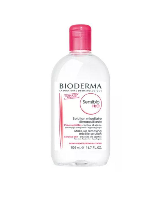 """demaquiante Bioderma Sensibio água micelar"""