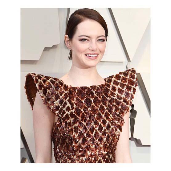 Beleza no Oscar: o cabelo e a maquiagem de Emma Stone