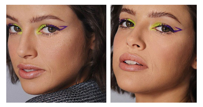 Delineador na maquiagem de Agatha Moreiera