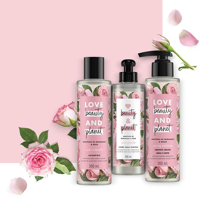 Linha com murumuru e rosas Love, Beauty & Planet