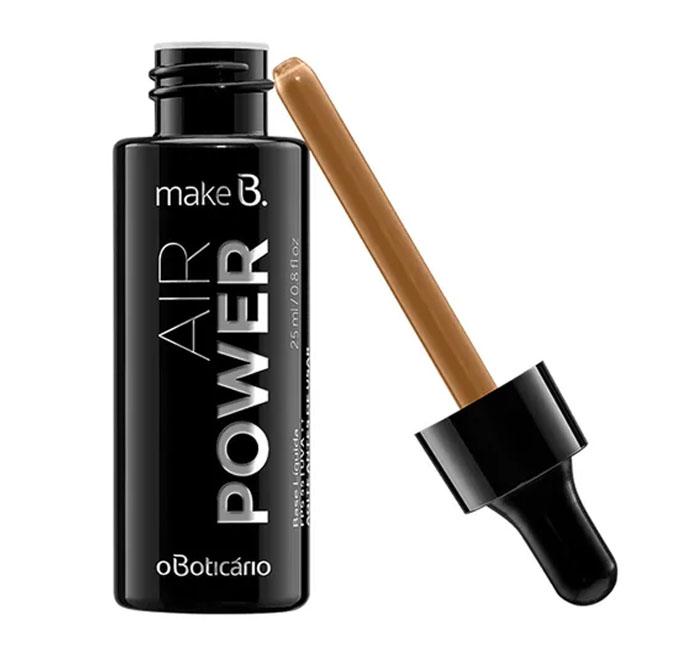 Base líquida Air Power O Boticário maquiagem
