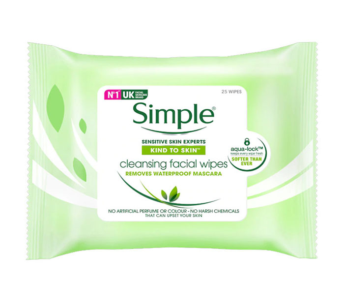 Lencinhos demaquilantes Simple Melhores produtos para a pele