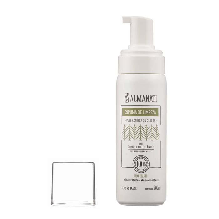 espuma de limpeza facial orgânica almanati