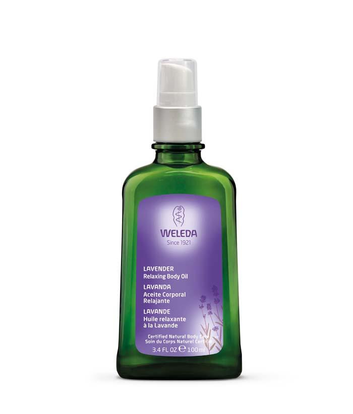 óleo de tratamento corporal lavanda Weleda