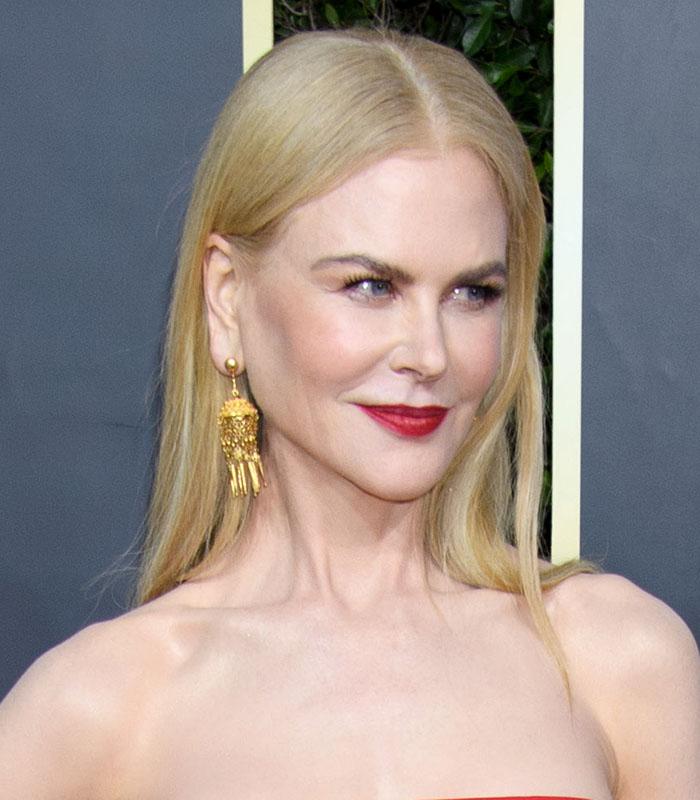 Nicole Kidman usa batom vermelho nos Golden Globes 2020