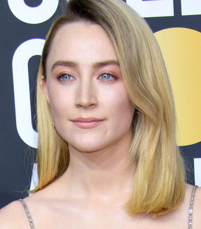 Saoirse Ronan maquiagem nude rosada Golden Globes 2020