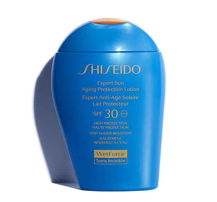 protetor solar à prova d'água Shiseido