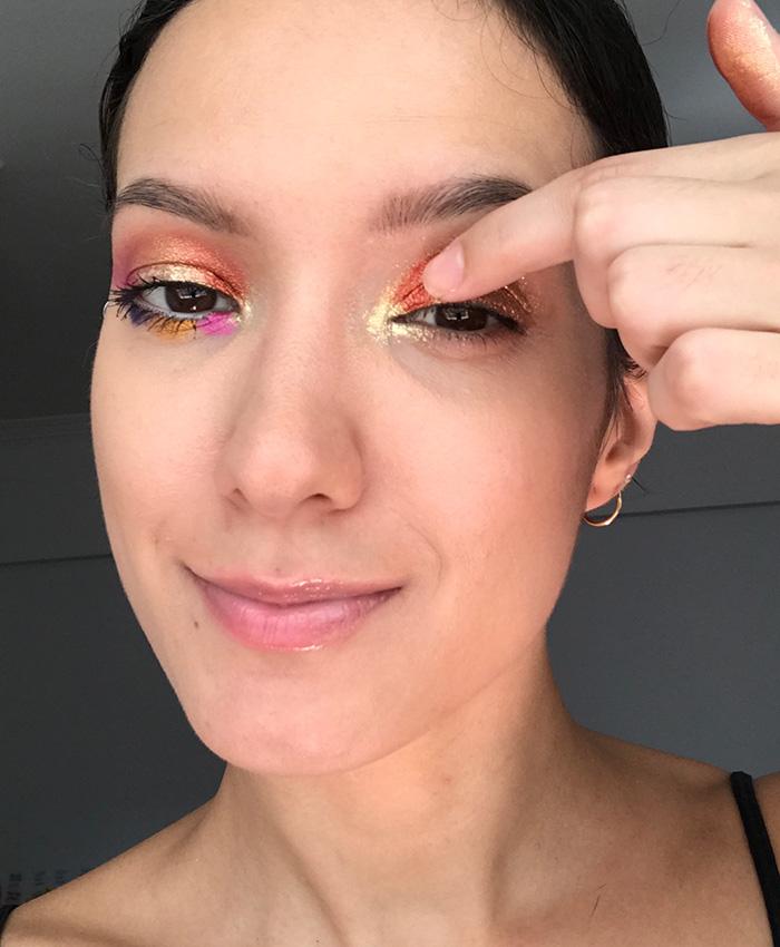 Sombra cobre com glitter