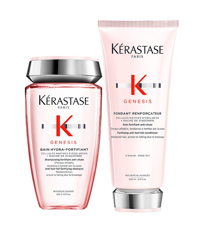 Shampoo e condicionador para ajudar a combater a queda Kérastase
