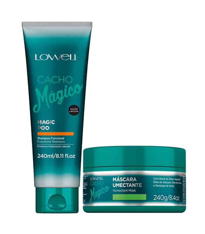 Shampoo e condicionador para cabelo cacheado Lowell
