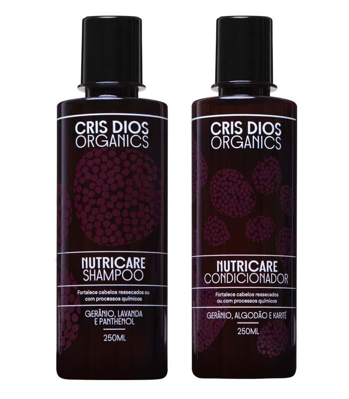 shampoo e condicionador orgânicos Cris Dios