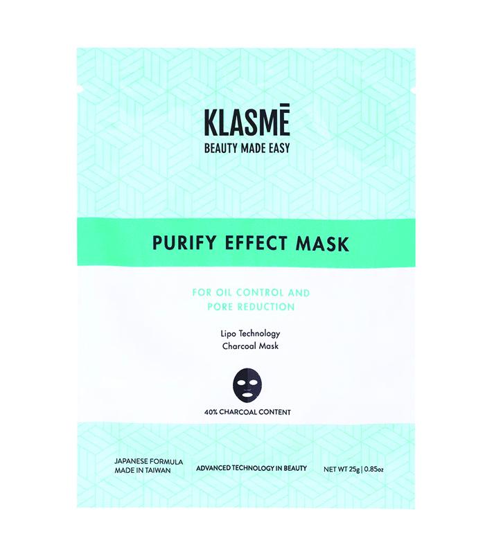 máscara purificante para pele oleosa Klasmé