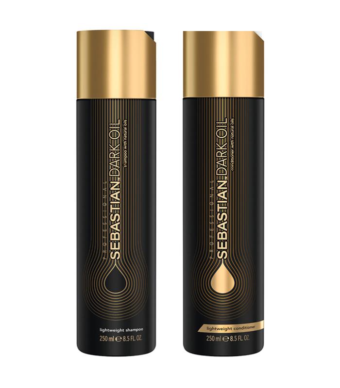 xampu e condicionador Dark Oil para cabelo ressecado