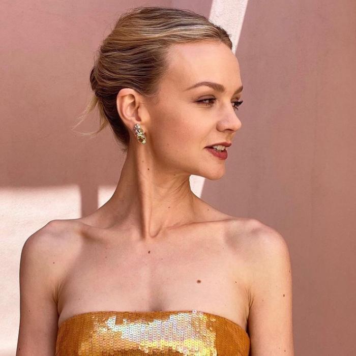 penteado Carey Mulligan melhores belezas do Oscar 2021