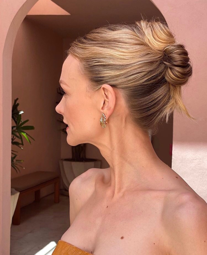 melhores penteados Oscar 2021 Carey Mulligan